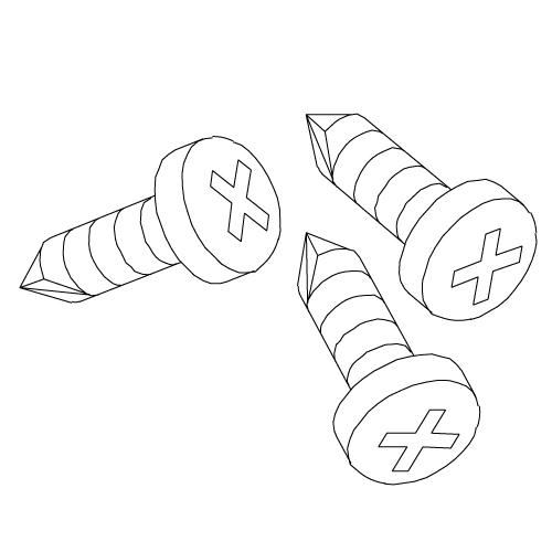 "Self-Drilling Screw - 1/4"" x 3/4"""