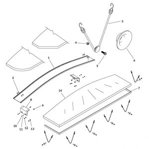 Fabric Cap Hardware Kit-0