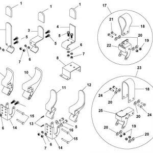 Easy-Off Flexible Tarp Stop w/Mounting Hardware