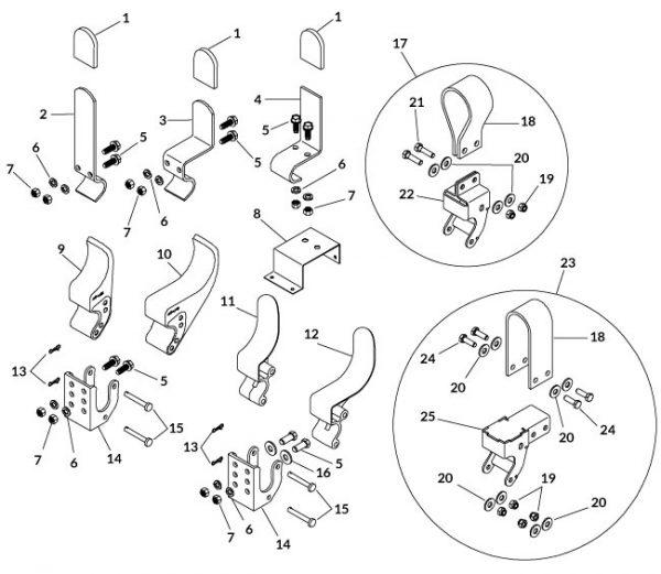 "Easy-Off Belt Flex 6"" Tarp Stop w/Mounting Hardware-0"