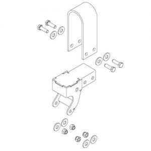 "Easy-Off Belt-Flex 6"" Offset Tarp Stop Upright"