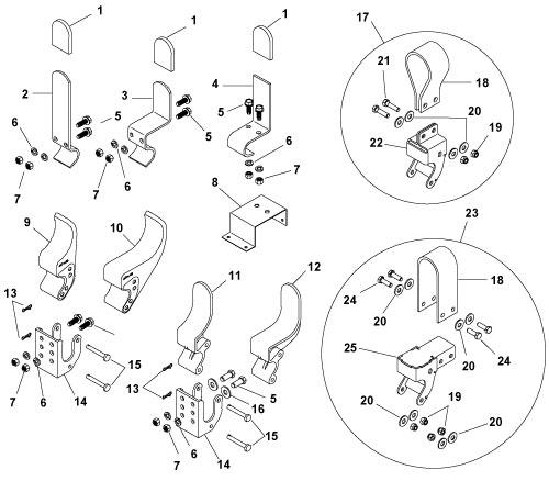 Powder-Coated Easy-Off Aluminum (Cast) Tarp Stop w/Mounting Hardware-0